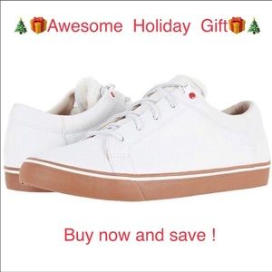 😎New Men's Ugg Brock white leather sneakers sz 9